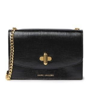 Marc Jacobs The Turnlock Black Leather Crossbody
